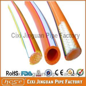 China 8*14.5mm High Pressure Yellow PVC Spray Hose on sale
