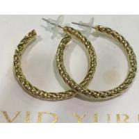 Wholesale (E-70)Women's Jewelry Gold Plated Twist Cable Hoop Earrings for Women Gift from china suppliers