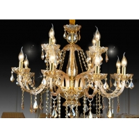 China 6 Bulbs 850*700mm K9 Stainless Steel 220V Hanging Candle Chandelier on sale