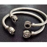 Buy cheap (B-121) Fashion Design Women Gift Rhodium Plated Cubic Zircon Cable Bracelet from wholesalers