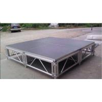 Wholesale Square Adjustable Aluminum Folding Stage , Performance Mobile Stage Platform from china suppliers