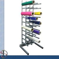 Wholesale 40 vinyl roll display rack / metal display stand /  Roll display rack with casters / Tooling display stand from china suppliers