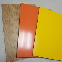 Wholesale 2mm 3mm 4mm 5mm Thick Solid Aluminum Composite Panel , Composite Metal Panel Gloss White from china suppliers