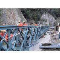 China 200 Type Permanent Galvanized Surface Treatment Steel Bailey Bridge Double Rows Bridge for sale
