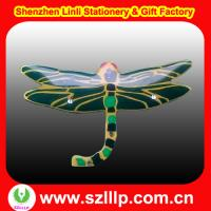 China dragonfly shaped OEM LED lights flashing  fasion name badges magnet on sale