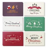 Wholesale Winter Holiday Greeting Cards , Retro Modern Design Merry Christmas Card from china suppliers