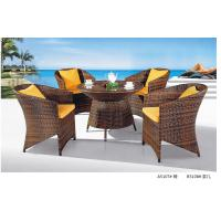 Wholesale modern pe rattan garden dining table chair outdoor furniture set from china suppliers