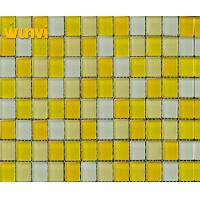 Wholesale Outdoor Yellow And White Swimming Pool Mosaic Tiles / Mosaic Decorative Tiles from china suppliers