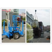 Quality Trailer Type Vertical Mast Lift , 6 Meter Personnel Lift Platform For Outdoor Working for sale