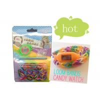 Wholesale Non-Toxic Rainbow Silicone Wristband Bracelet , DIY Loom Band Ion Watch from china suppliers
