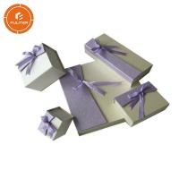 China Small Empty Jewelry Gift Boxes , Paperboard Glossy Necklace Presentation Box on sale