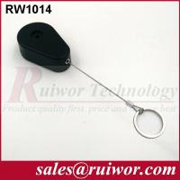 Wholesale ABS Plastic Anti Theft Retractable Pull Box Recoiler Drop Shaped With Key Ring from china suppliers