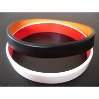 2 layers silicone bracelet, Top quality two layers silicone bracelet,wristbands, Custom made colors for sale