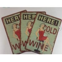 Wholesale Restaurant Vintage Tin Plate Signs Home Decoration Personalized Metal Signs from china suppliers