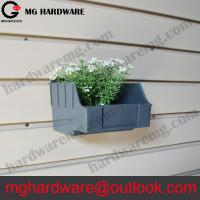 China Plastic Slatwall Bins Grey color Small size for holding screws on sale
