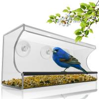 Wholesale Birdscapes window bird feeder House shaped clear acrylic bird feeder from china suppliers