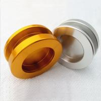 Wholesale Glass sliding door handle in gold plated , single hole door handle from china suppliers