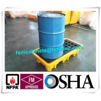 Wholesale Steel Spill Decks Containment Pallets 2 Drums / 4 Drums Removable With Drain from china suppliers