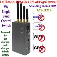 Wholesale 4 Antenna Handheld Cell Phone 2G GSM GPS WIFI Signal Jammer Blocker W/ Single Band Switch from china suppliers