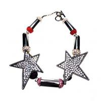 Wholesale Fashionable Black Sterling Silver Pave Infinity Rhinestone Star Bracelets For Women from china suppliers