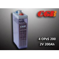 Wholesale 2V 4 OPzS200 Tube Vented ABS Opzs Batteries Solar Energy Storage Application from china suppliers