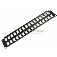 """Wholesale 19""""  UTP/STP 32Port  Unload Modular Blank Patch Panel Available For Cat5e Cat6 Couplers and Keystone Jacks from china suppliers"""