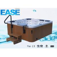 Wholesale 4 Seats + 3 Lounge Luxury Square Acrylic Whirlpool Massage Outdoor Bathtubs 220V / 40A from china suppliers
