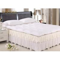 Wholesale Quilted Double Mattress Protector 100% Polyester White 72 Inch X 78 Inch from china suppliers
