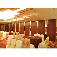 China Fabric Sliding Folding Doors Hanging Office Partition System For Meeting Room on sale