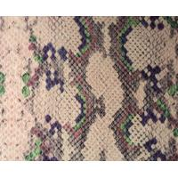 Wholesale Film Lamination Snakeskin Vinyl Fabric , Snakeskin Fabric With 2005 / 84 / EC Standard from china suppliers