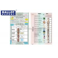 Quality Customized Uncoated Voting Ballot Paper SE - SCC0002 For Political Elections for sale