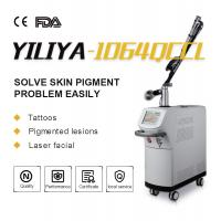 Quality Top Homogeneous Beam EO Q Switch 1064nm 532nm Long Pulse ND YAG Laser Tattoo Removal For Clinic for sale