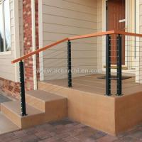 Wholesale Stainless Steel Wire Decking Balustrade with Oak Wood Top Handrail from china suppliers