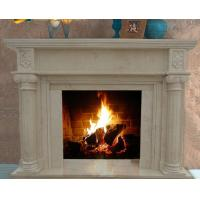 Wholesale Home Decoration Elegant Natural Indoor Carved Marble Fireplace On Sale from china suppliers