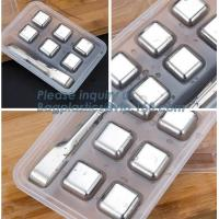 Wholesale Free Stainless Steel Ice Cube Dice Ice Cube Whisky Stone, New Stainless steel ice cubes Square shape whiskey stone, pac from china suppliers