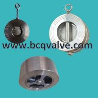 Wholesale wafer type stainless steel cast steel single disc check valve from china suppliers