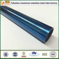 Wholesale 300 Series Royalblue Grooved Stainless Steel Tubes from china suppliers