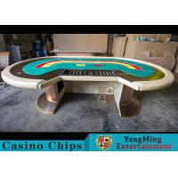 Wholesale Waterproof Casino Poker Table / Professional Poker Table With Leather Handrails from china suppliers