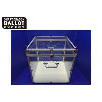 Wholesale Customized Acrylic Ballot Box Transparent Voting Box With Lock from china suppliers