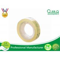 Quality Smooth Clear Color Code Tape , Water Based Transparent Bopp Tape Pressure Sensitive for sale