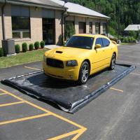 Quality Black Print Car Wash Mats Water Containment Inflatable Wash Pads / Water Collector for sale