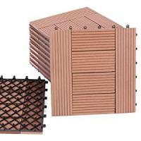 Wholesale DIY WPC  DECKING TILE 300*300mm can using  in garden decoration or courtyard from china suppliers