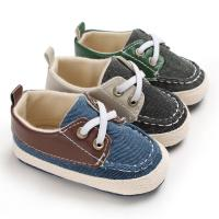 Wholesale New fashion Canvas shoes Anti-slip prewalker infant crib boy baby shoes from china suppliers