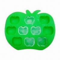 Wholesale Silicon Apple Ice Tray, Made of High-quality Silicone, FDA and LFGB Approved, OEM Designs Welcomed from china suppliers