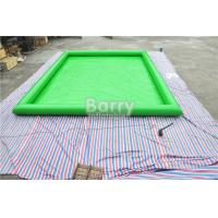 Wholesale Green Customized Large Square Inflatable Swimming Pool PVC Tarpaulin Material from china suppliers