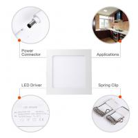 Wholesale 18W 8 Inch Dimmable Ultra Thin Square LED Panel Light 120W Incandescent Equivalent from china suppliers