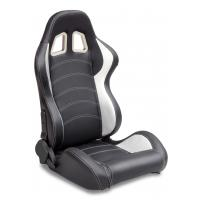 Wholesale Sparco Style Leather Racing Sport Auto Car Seats / Black And White Racing Seats from china suppliers