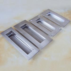 Quality Contemporary rectangular flush pull dresser drawer hidden handle for sale