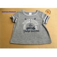 Wholesale Overall Size Baby Boy Short Sleeve T Shirt , Heather Gray Kids Short Sleeve Tops from china suppliers