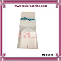 Wholesale Delicate design wine double bottle box/White color fancy paper gift box ME-FD022 from china suppliers